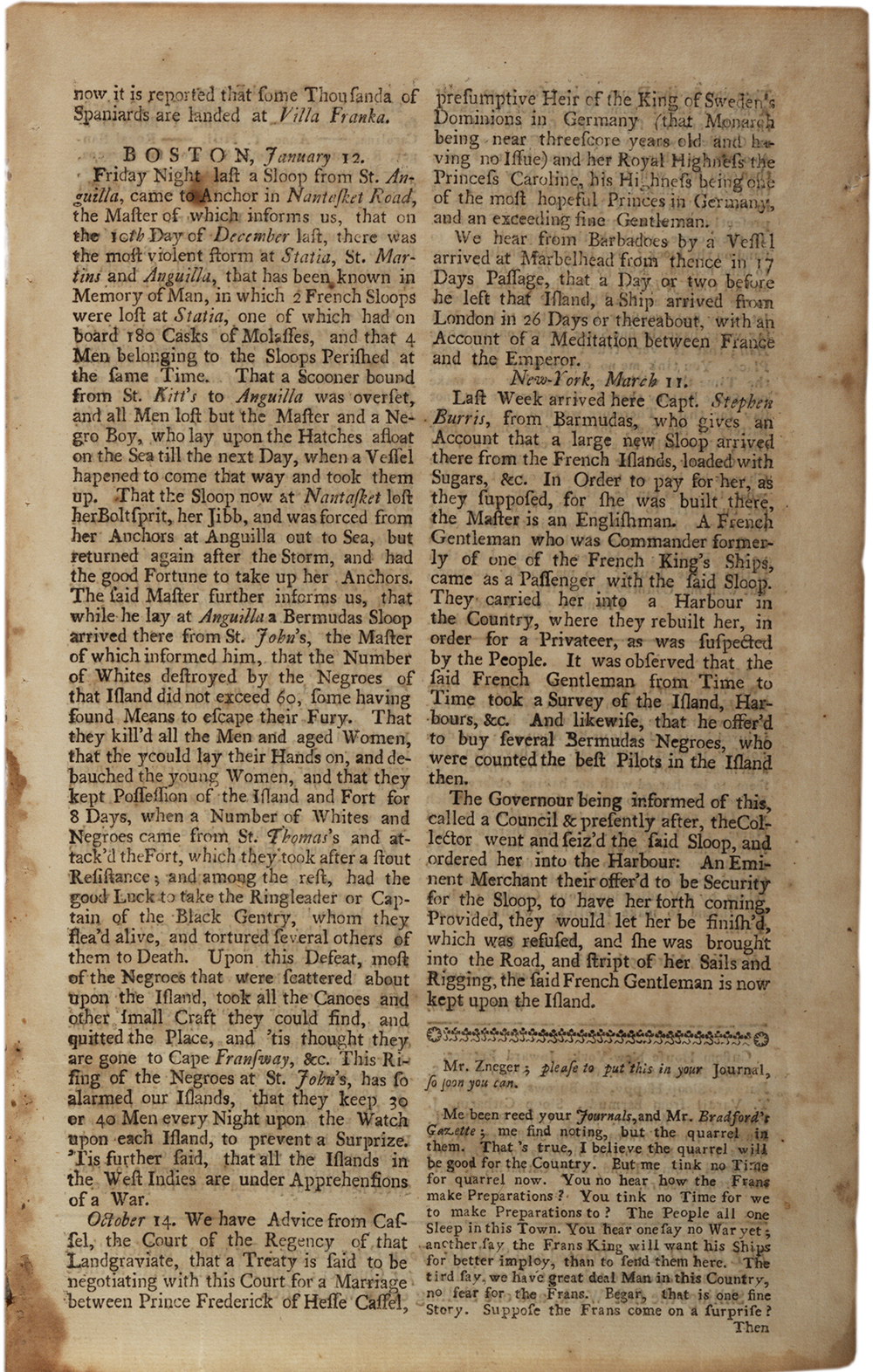 1733 rebellion Living easton home page  1733 - the virgin islands rebellion on st john island, 40 white people reported killed 1736 - antigua 88 executions of those who revolted.