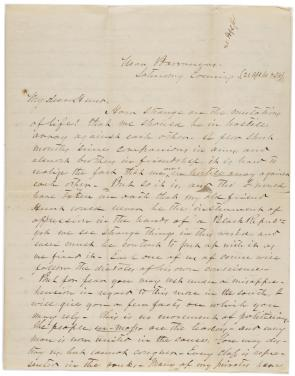 Braxton Bragg to Henry J. Hunt, April 21, 1861. (Gilder Lehrman Collection)