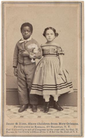 Issac & Rosa, Two young slave children, 1863 (GLC05111.02.1051)