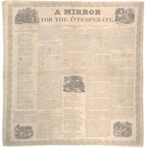 """A mirror for the intemperate"" broadside, Boston, ca. 1830 (Gilder Lehrman C"