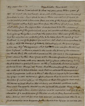 Thomas Jefferson to James Maury Esq., June 16, 1815. (GLC09077)