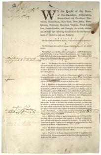 Constitution [printing of first draft] [Committee of Detail], August 6, 1787.