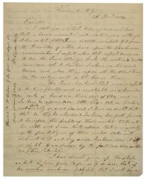 David Crockett to Charles Schultz, December 25, 1834 (Gilder Lehrman Collect