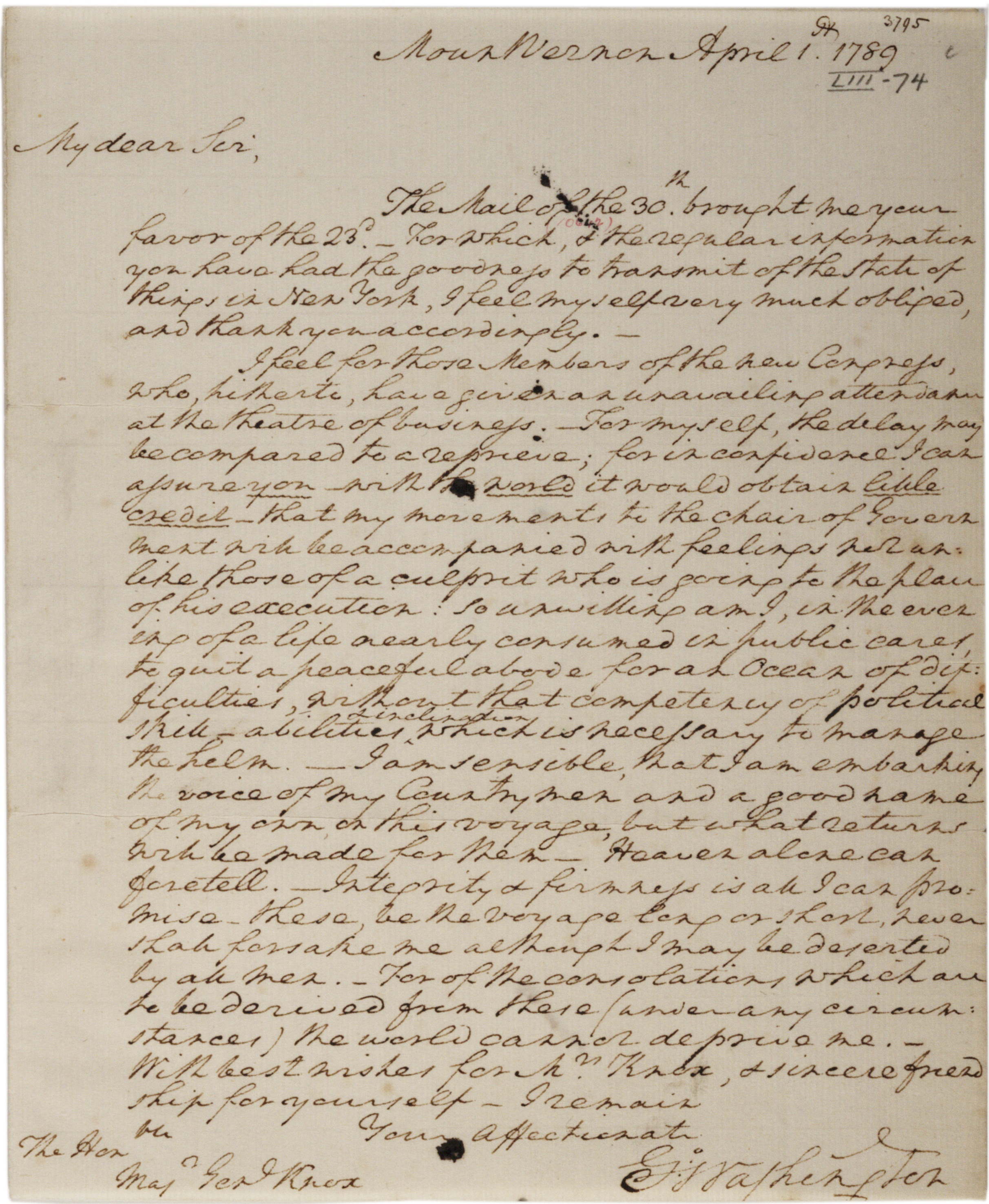 george washington essays george washington to henry knox gilder lehrman collection