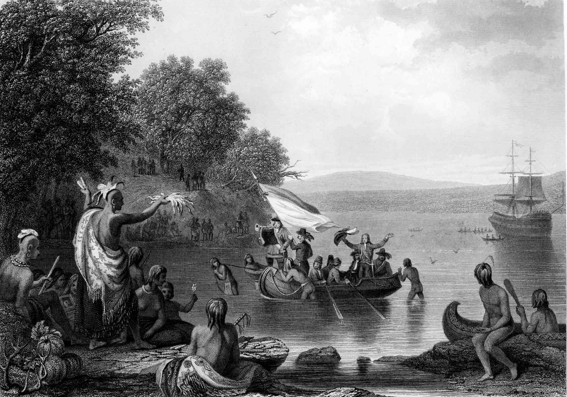 The Landing Of Henrick Hudson 1857 Gilder Lehrman Collection