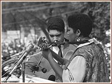 Odetta performs at the Civil Rights March on Washington, D.C., August 28, 1963 (