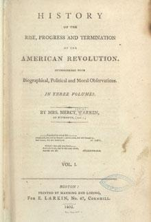 """History of the Rise, Progress and Termination of the American Revolution,"" fron"